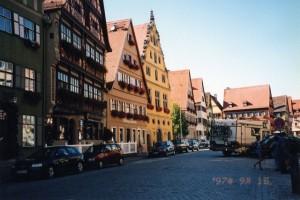 ローテンブルクの町並み