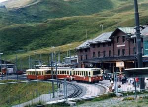 登山鉄道でユングフラウ