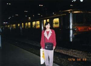 パリの駅で(お疲れ気味?)
