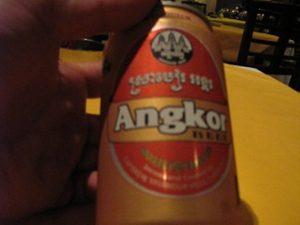 渇いたのどにうまかったアンコール・ビール