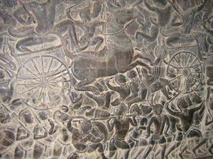 石壁の彫刻
