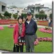 ミラベル宮殿の庭園にて